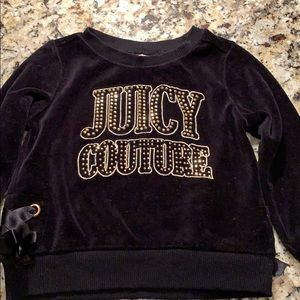 Juicy Couture Black Sweatshirt